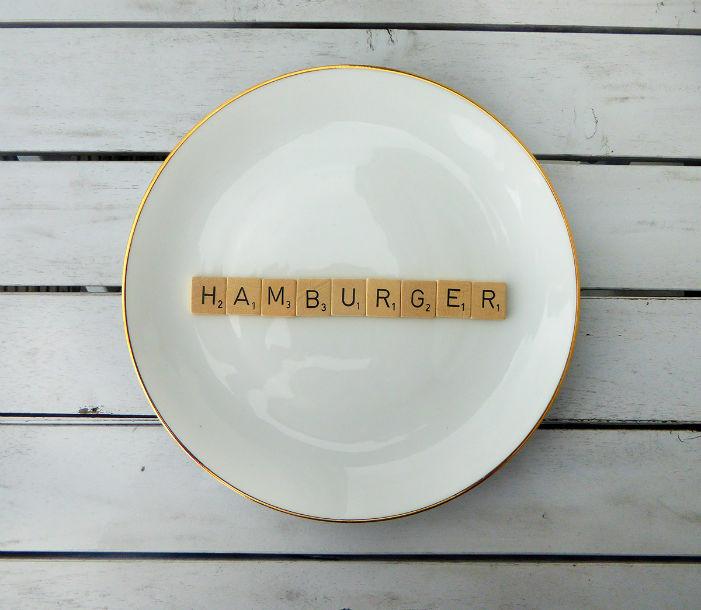 wandteller hamburger vintage herr fuchs deko typo herr fuchs. Black Bedroom Furniture Sets. Home Design Ideas